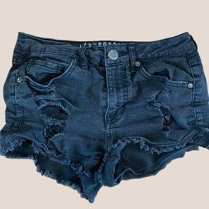 2/$18 Aeropostale / Black / Frayed /Jean / Shorts